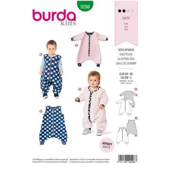 Wykrój krawiecki BURDA na śpiwór znogawkami, śpiwór-kombinezon