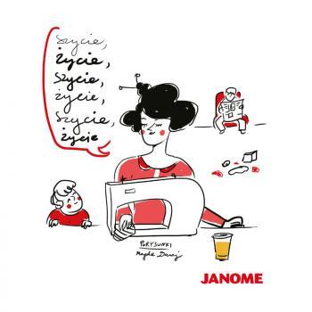 Plakat z porysunkiem Janome 8
