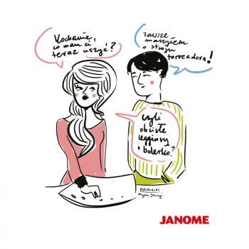 Plakat z porysunkiem Janome 9