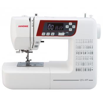 Maszyna do szycia Janome QXL605 + GRATIS 3 stopki + igły + nici + szpulki