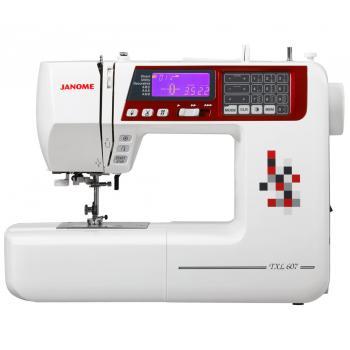 Maszyna do szycia Janome TXL607 + GRATIS 3 stopki + igły + szpulki + nici