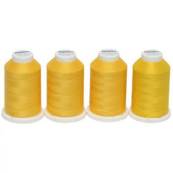 Zestaw 4 nici do owerloka Madeira (żółty)