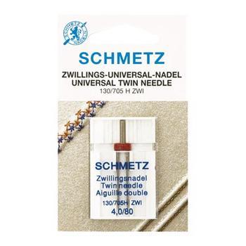 Zestaw igieł Schmetz do tkanin, dzianin, stretchu, jeansu i igła podwójna