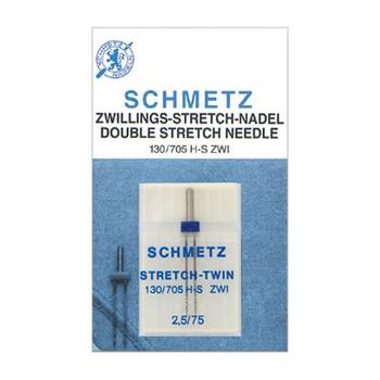 Igła podwójna do maszyn do szycia 130/705H-S ZWI do stretchu Schmetz (różne rozstawy i grubości)