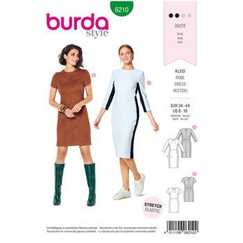 Wykrój krawiecki BURDA na prostą sukienkę z rozporkiem ztyłu
