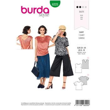 Wykrój krawiecki BURDA na bluzkę itop o prostej formie