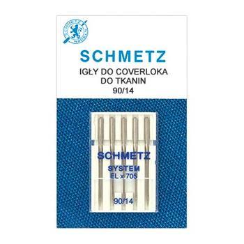 Igły do coverów i coverloków ELx705 do tkanin Schmetz (różne rozmiary)