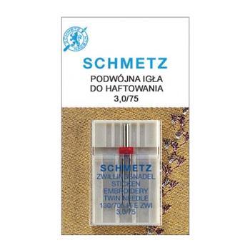 Igła podwójna do haftowania 130/705H-E ZWI Schmetz (różne rozstawy)