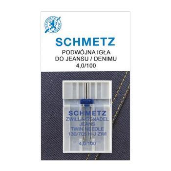 Igła podwójna do maszyn do szycia 130/705H ZWI do jeansu Schmetz