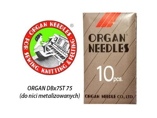 Igły Organ do hafciarek DBx7ST z dużym okiem (75)