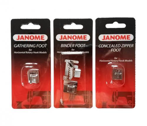 Zestaw stopek Janome 4 (rotacyjny)