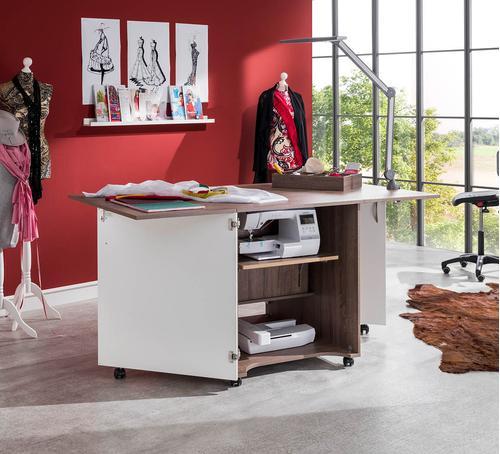 Stół drewniany rozkładany CRAFT pod maszynę do szycia