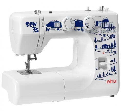Maszyna do szycia Elna Sew 75 + GRATIS 3 stopki, nici i szpulki