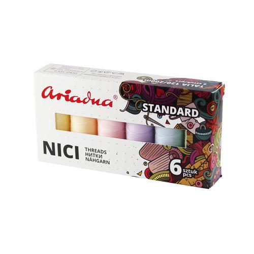 Zestaw nici do szycia Ariadna Talia 120 Pastel (pastelowe)
