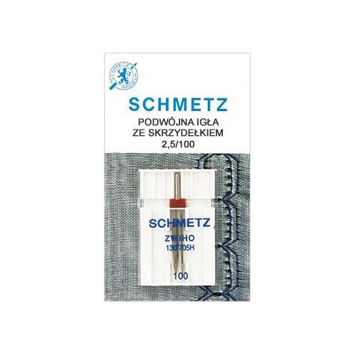 Igła podwójna Schmetz ze skrzydełkiem (2,5/100)