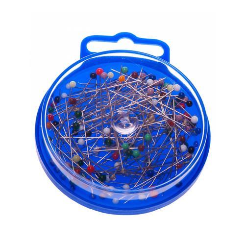 Szpilki stalowe niklowane ze szklanymi łebkami - 4,4 cm