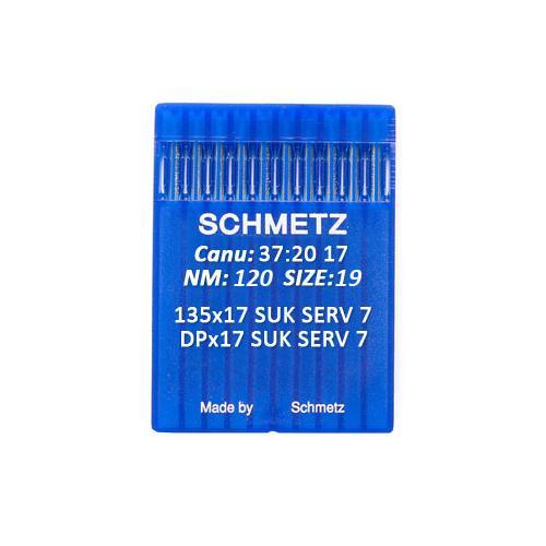 Igły Schmetz 135x17 SUK SERV 7 do stebnówek do szycia dzianin (różne grubości)