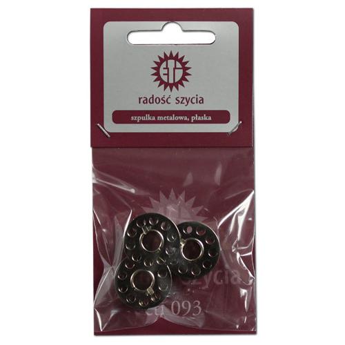 Zestaw szpulek metalowych płaskich (3szt)