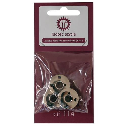 Zestaw szpulek metalowych soczewkowych (3szt)