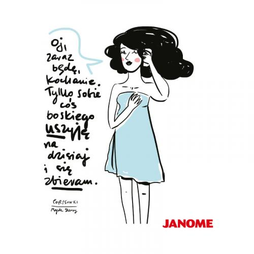Plakat z porysunkiem Janome 2