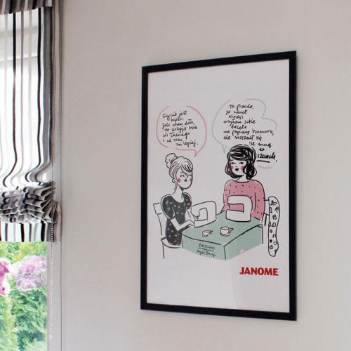 Plakat z porysunkiem Janome 7