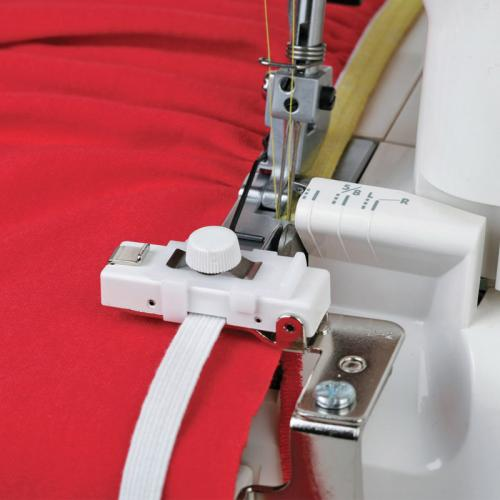 Prowadnik do wszywania i marszczenia gumy (3,5-8mm) do owerloków Janome