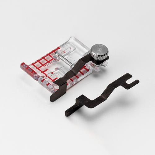 Stopka przezroczysta z prowadnikami (do maszyn z szerokością ściegu 9 mm)