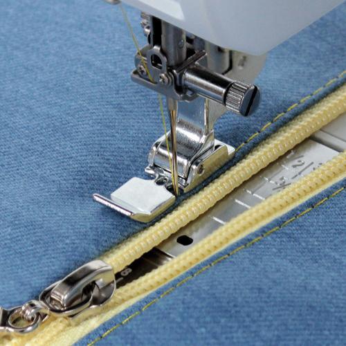 Stopka do wszywania zamków (do maszyn z szerokością ściegu 9 mm)