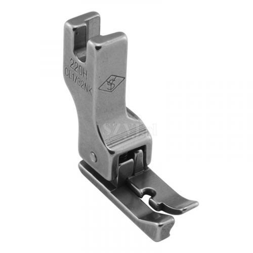 Stopka kompensacyjna wąska 0,8 mm (lewa) do delikatnych materiałów do stebnówek