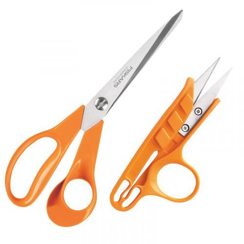 Zestaw Fiskars - nożyczki 21 cm + obcinaczki do nitek