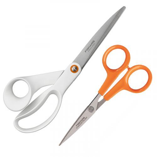 Zestaw nożyczek Fiskars – małe (13 cm) i duże (21 cm)