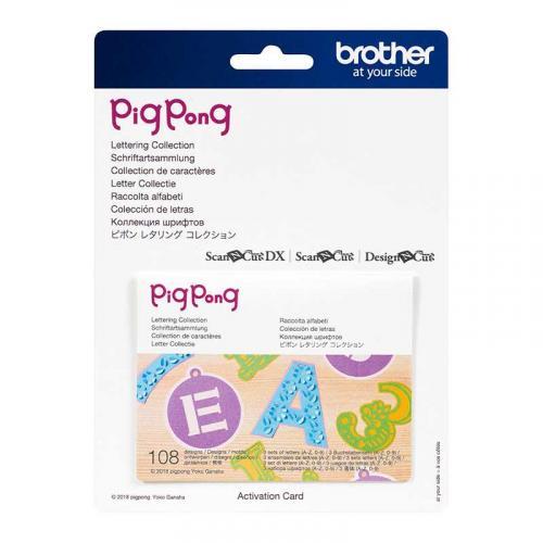 Kolekcja wzorów liter Ping Pong do Brother ScanNcut
