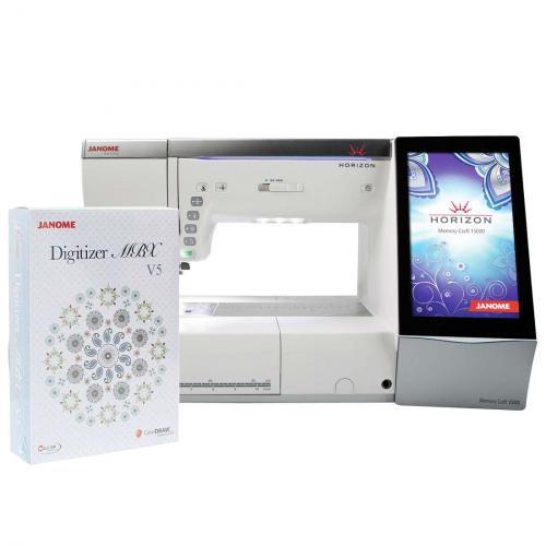 Maszyno-hafciarka Janome MC15000 + program hafciarski Janome Digitizer MBX 5.5