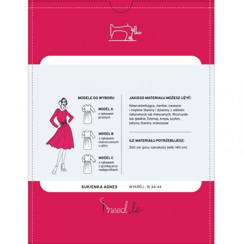 Wykrój na damską sukienkę