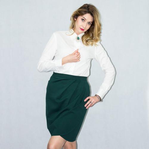 Wykrój na spódnicę damską z zakładkami
