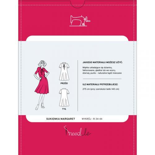 Wykrój na sukienkę z wiązanym dekoltem