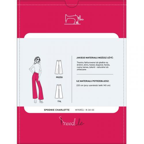 Wykrój na damskie spodnie z szerokimi nogawkami, fig. 2