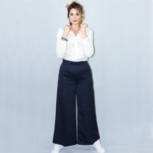 Wykrój na damskie spodnie z szerokimi nogawkami, fig. 4
