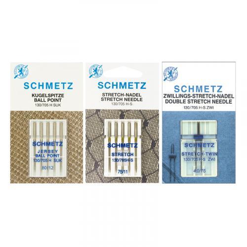 Zestaw igieł Schmetz do dzianin, stretchu i igła podwójna