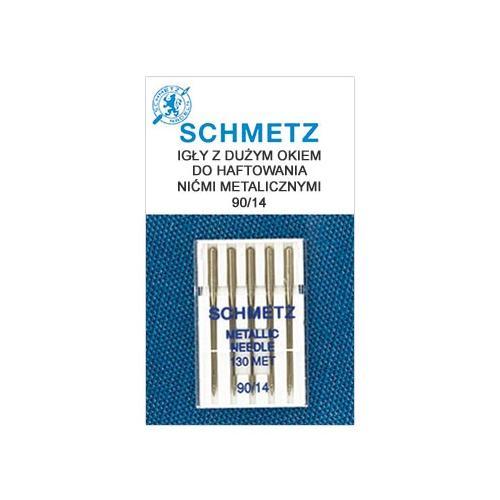 Igły do haftowania nićmi metalicznymi 130/705H DUŻE OKO Schmetz (różne grubości)
