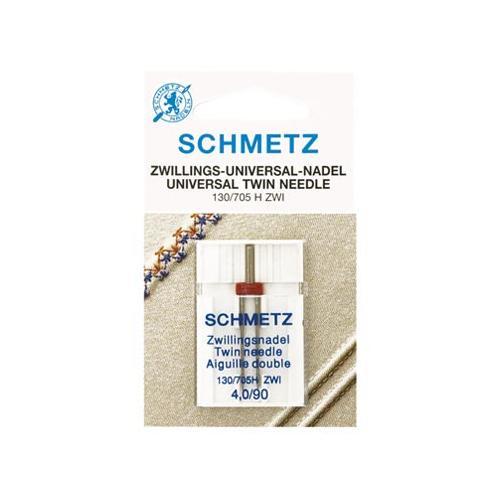 Igła podwójna do maszyn do szycia 130/705H ZWI do tkanin Schmetz (różne rozstawy i grubości)