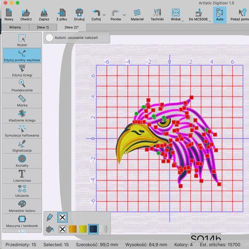 Profesjonalny program do projektowania haftów Janome Artistic Digitizer
