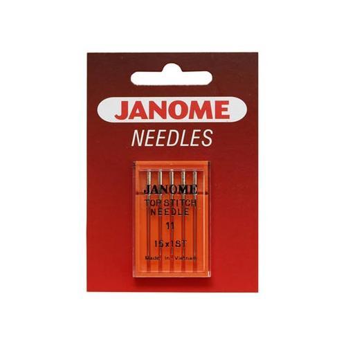 Igły do maszyn do szycia 130/705H DUŻE OKO do tkanin Janome (różne grubości)