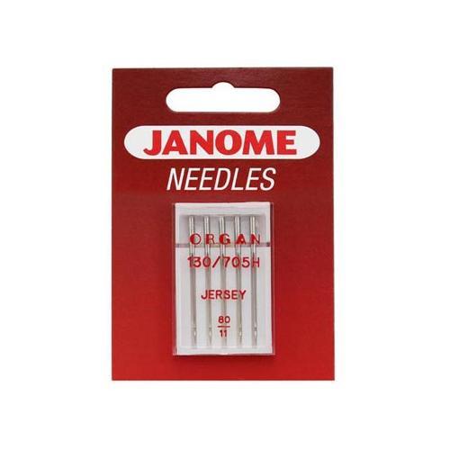 Igły do maszyn do szycia dzianin i materiałów elastycznych 130/705H Janome (różne grubości)