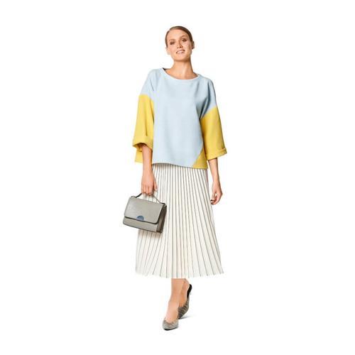 Wykrój krawiecki BURDA na bluzę o prostym kroju zozdobnymi szwami