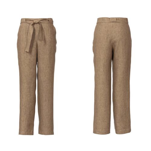 Wykrój krawiecki BURDA na spodnie o prostym kroju z naszywanymi kieszeniami