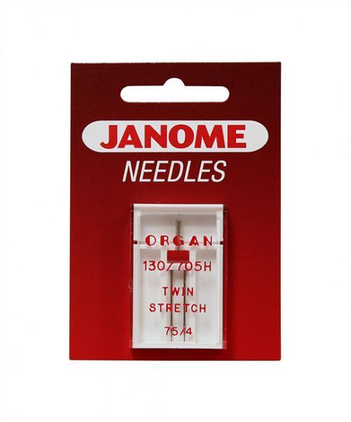Zestaw 3 kompletów igieł JANOME (do tkanin, dzianin, igła podwójna)