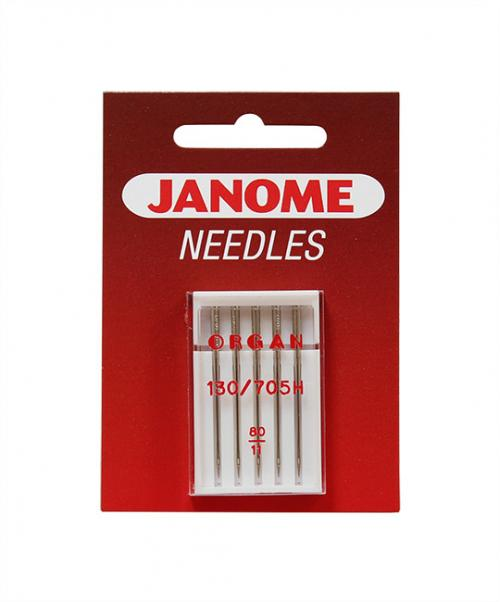 Zestaw 3 kompletów igieł JANOME (do tkanin, dzianin, syntetyków, poliestrów)